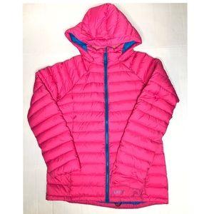 Burton pink puffer coat/ medium